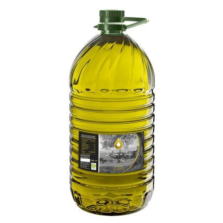 Aceite de oliva virgen extra ecológico Los Llanos de Gredos 5L. (Caja de 3 garrafas)